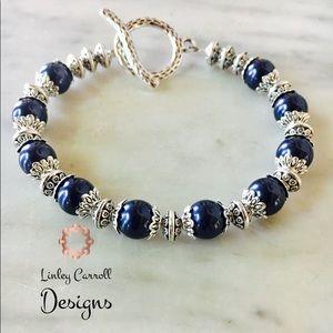 Jewelry - Swarovski Midnight Blue Pearl Bracelet